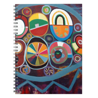 Alegre y colorista colección libro de apuntes con espiral