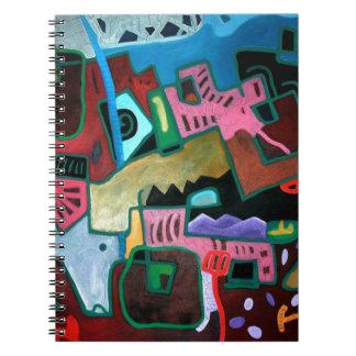 Alegre y colorista composición artística. cuaderno
