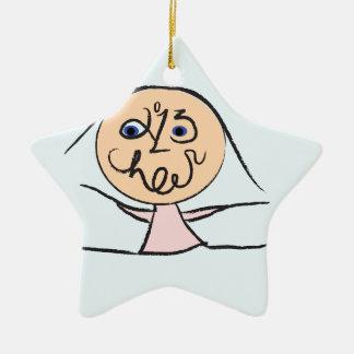 Alegría 2013 adorno navideño de cerámica en forma de estrella