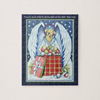 """Alegría 8"""" del navidad del oso x 10"""" rompecabezas"""