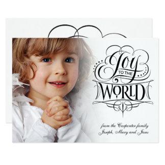 Alegría a la caligrafía religiosa del navidad del invitación 12,7 x 17,8 cm
