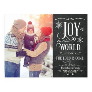 Alegría a la postal del navidad de la pizarra del