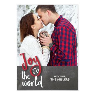 Alegría a la tarjeta de la foto del navidad del