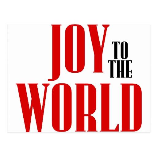 ¡Alegría al mundo! Tarjeta Postal