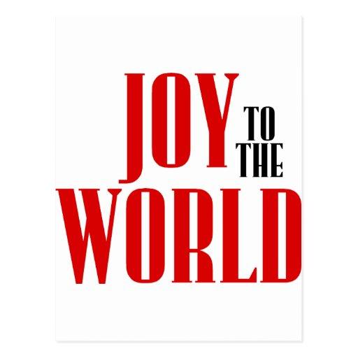¡Alegría al mundo! Postal