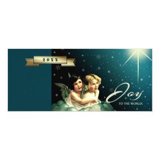 Alegría al mundo. Tarjetas de Navidad religiosas Invitación 10,1 X 23,5 Cm
