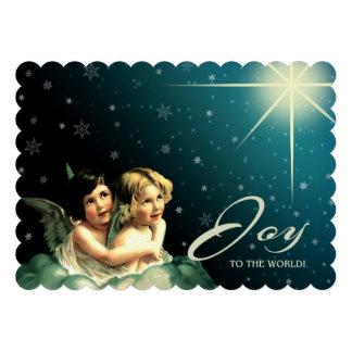 Alegría al mundo Tarjetas de Navidad religiosas Invitaciones Personales
