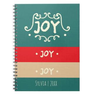Alegría, alegría, alegría, día de fiesta moderno cuaderno