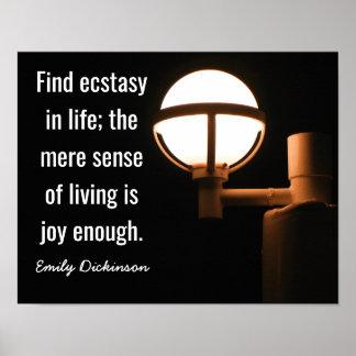 Alegría bastante -- Cita de Emily Dickinson - Póster