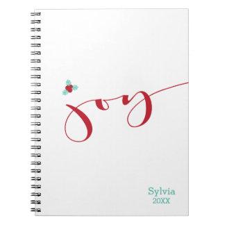 ¡Alegría! Bayas del acebo Cuaderno