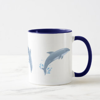 alegría de delfínes taza