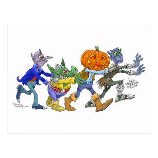 Alegría de Halloween Postal
