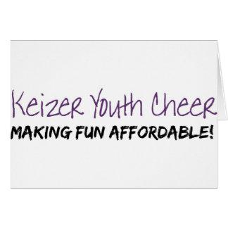 Alegría de la juventud de Keizer Tarjeta De Felicitación