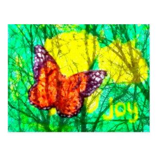 alegría de la mariposa postal