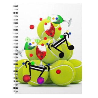 Alegría de la música de las bolas cuaderno