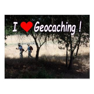 Alegría de la postal de Geocaching: Caminantes