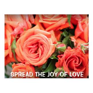 Alegría de la postal del amor