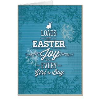 Alegría de Pascua Felicitacion