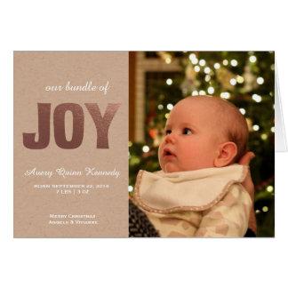 Alegría del bebé del navidad tarjeta de felicitación