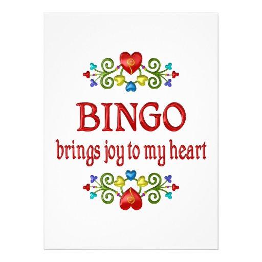Alegría del bingo comunicado personalizado