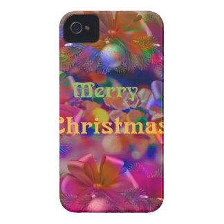 Alegría del navidad carcasa para iPhone 4 de Case-Mate
