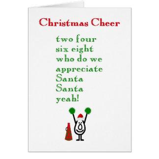 Alegría del navidad - un poema divertido del tarjeta de felicitación