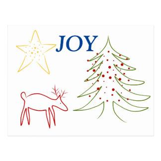 Alegría del reno del navidad de la postal