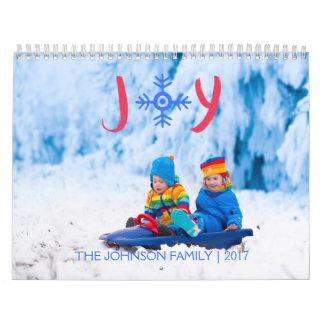 Alegría el | del copo de nieve calendario de 2017 calendarios