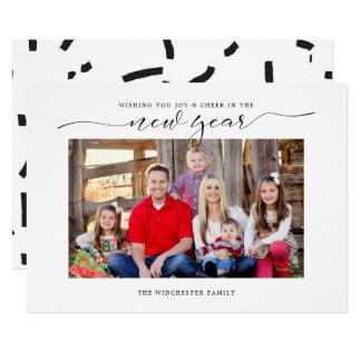 Alegría en la tarjeta del día de fiesta del Año