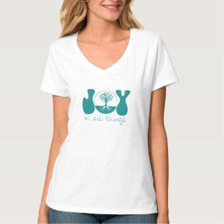 Alegría en todas las cosas {aguamarina} - señoras camisetas