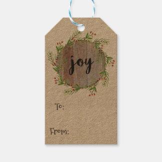 Alegría - etiquetas del regalo del navidad etiquetas para regalos
