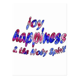 Alegría, felicidad y el Espíritu Santo Postal