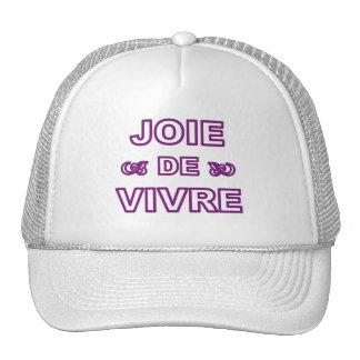 """Alegría francesa de """"joie de vivre"""" de la frase de gorros"""
