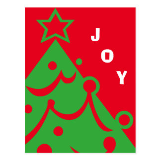 Alegría gráfica del árbol de navidad postal
