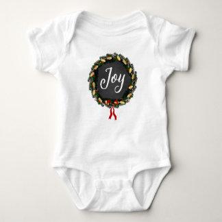 Alegría - guirnalda del navidad - mono del bebé body para bebé