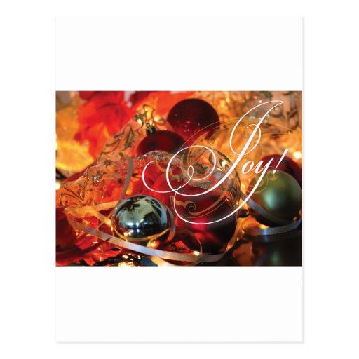 ¡ALEGRÍA magnífica de la tarjeta de Navidad! Postales