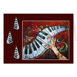 Alegría musical - tarjeta del día de fiesta del
