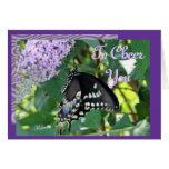 Alegría-personalizar de la mariposa tarjeton