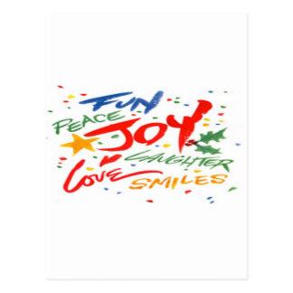 Alegría, risa, y sonrisa postal