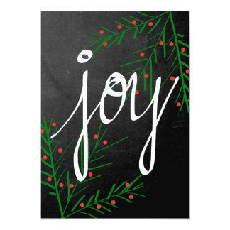 Alegría - tarjeta de Navidad Invitación 12,7 X 17,8 Cm
