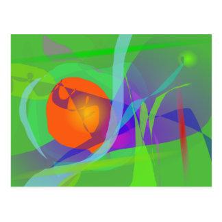 Alegría verde postal