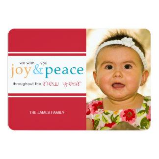 alegría y paz invitación 12,7 x 17,8 cm