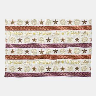 Alegría y Pentagrams 10 de Yuletide - toalla de
