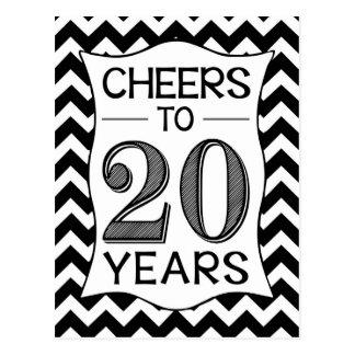 Alegrías a 20 años postal