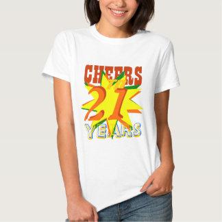 Alegrías a 21 años de cumpleaños camiseta