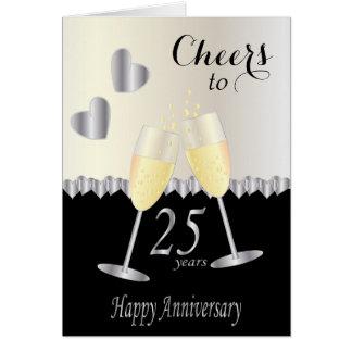 Alegrías a 25 años de texto del aniversario el | tarjeta de felicitación