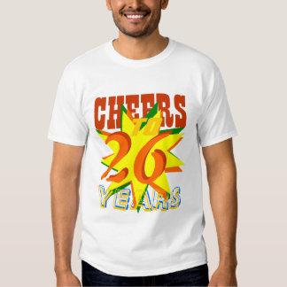 Alegrías a 26 años camisetas