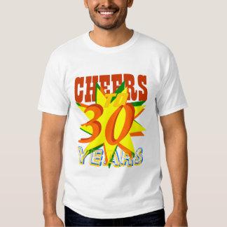 Alegrías a 30 años camisetas