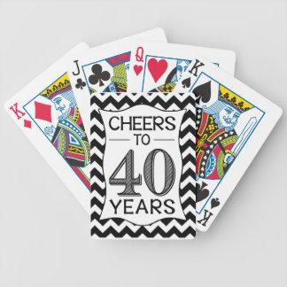 Alegrías a 40 años barajas de cartas