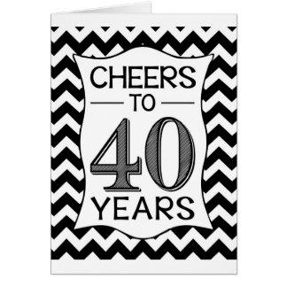 Alegrías a 40 años tarjeta de felicitación